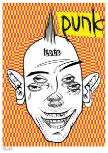 Image of face melter punk a2 ltd edition print (signed numbered)