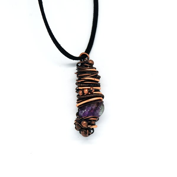 Image of Fluorite and copper pendant