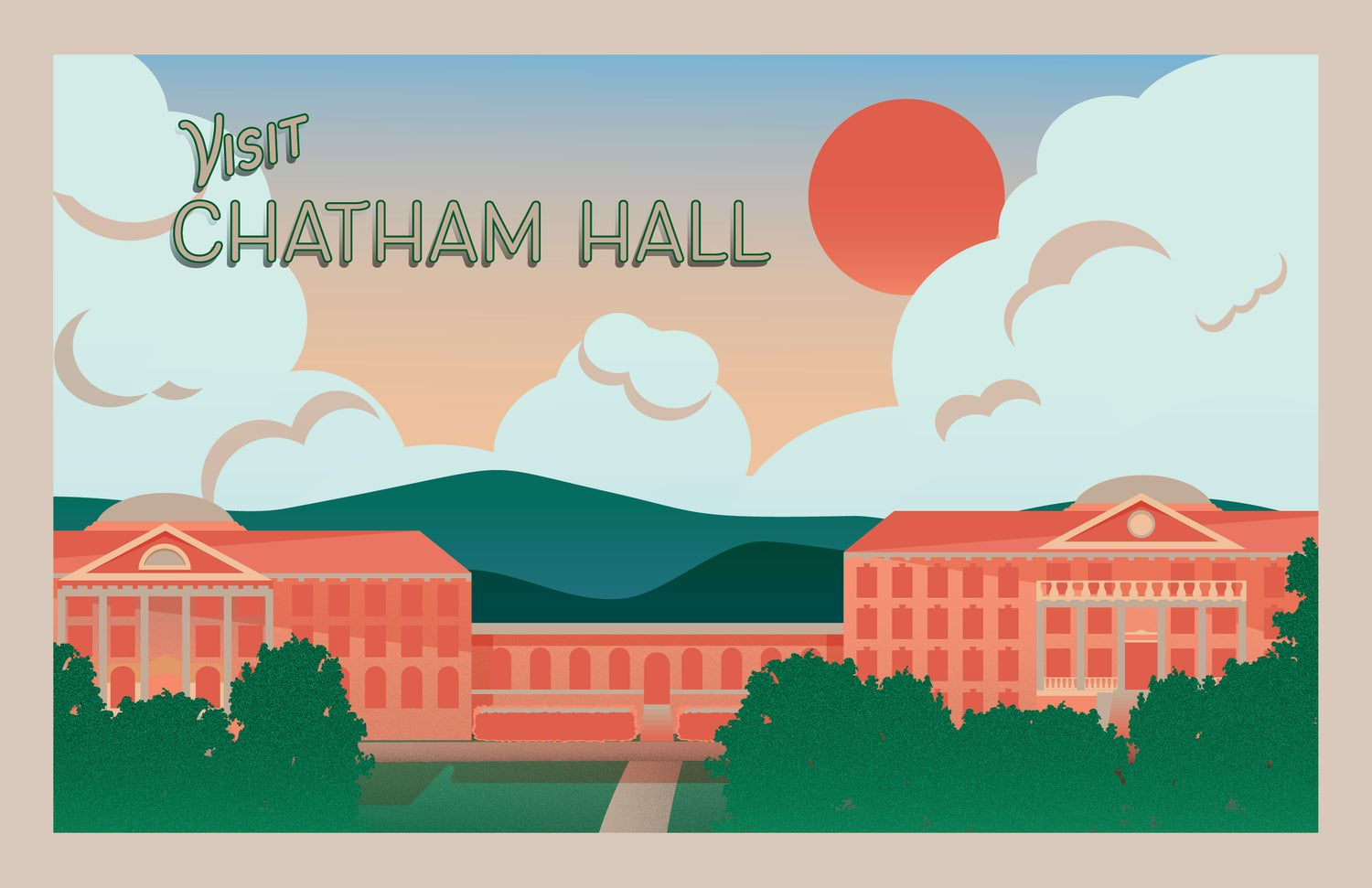 Image of Visit Chatham Hall Poster