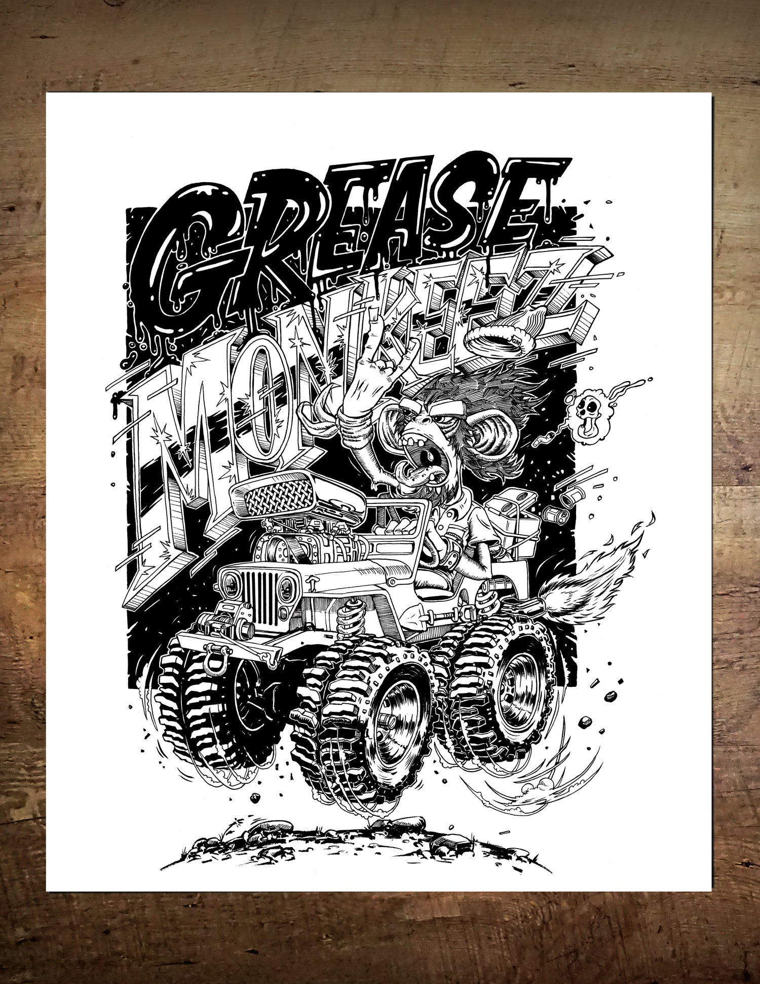 Image of Grease Monkeez 4x4 Poster