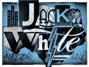 Image of Jack White poster -  Austin, Texas 2018