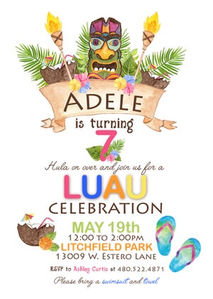 Image of Lua Party Invitations