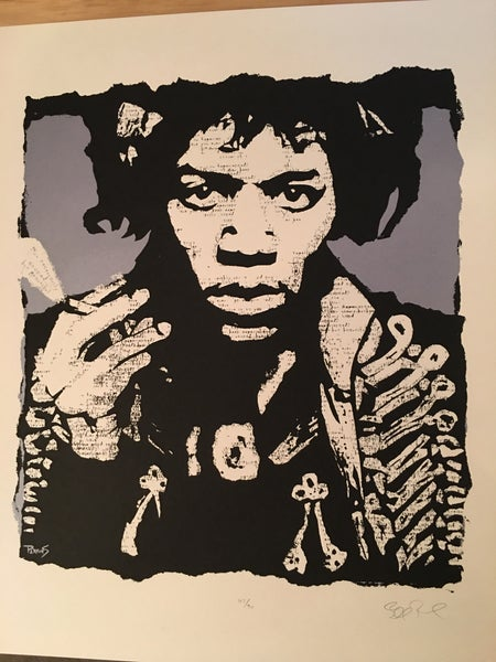 "Image of ""R.U. Experienced?"" Jimi Hendrix metallic grey"