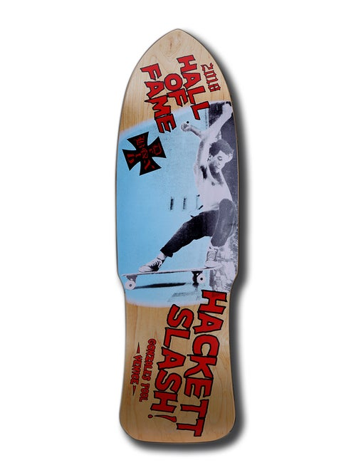 Image of DAVID HACKETT SKATEBOARD HALL OF FAME DECK