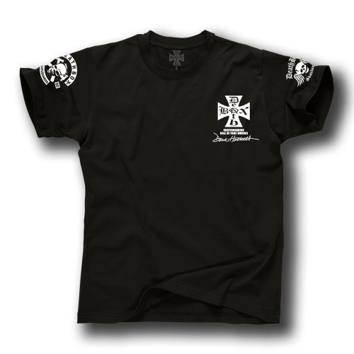 Image of DAVE HACKETT SKATEBOARD HALL OF FAME BLACK TEE