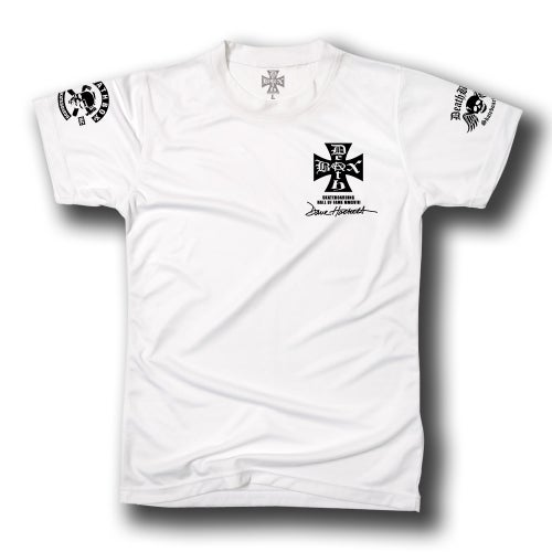 Image of DAVE HACKETT SKATEBORD HALL OF FAME WHITE TEE