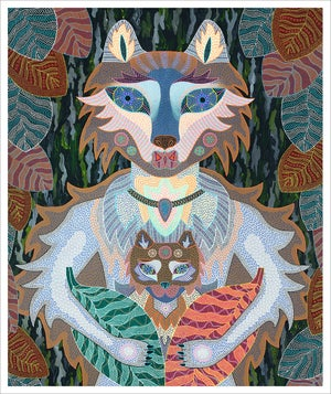 Image of Wolf giclee print