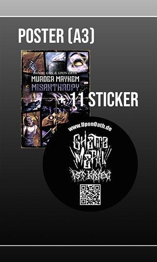 Image of Murder Mayhem Misanthropy Poster + Sticker