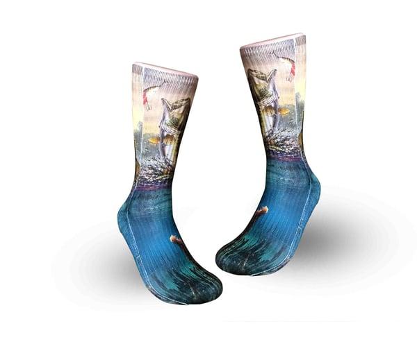 Image of $15.99 Bass fishing socks design - Elite sublimated socks