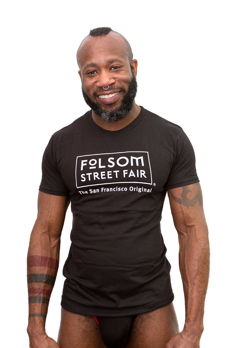 Image of Folsom Street Fair White Logo T-Shirt