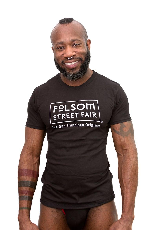 Image of Folsom Street Fair White Logo T-Shirt