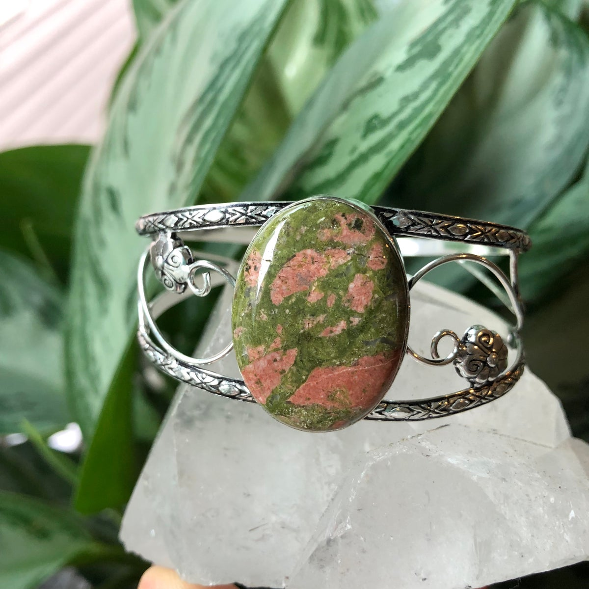 Image of Unakite Sterling Silver Bracelet Cuff