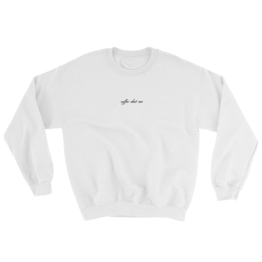 Image of coffee chat me sweater (white)