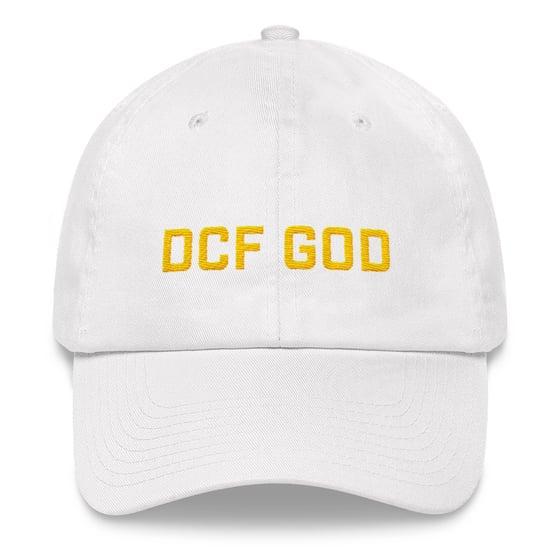 Image of dcf god dad hat (white)