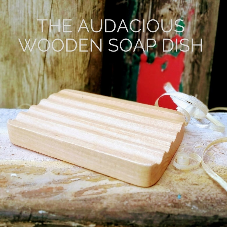 Image of The Audacious Wooden Soap Dish