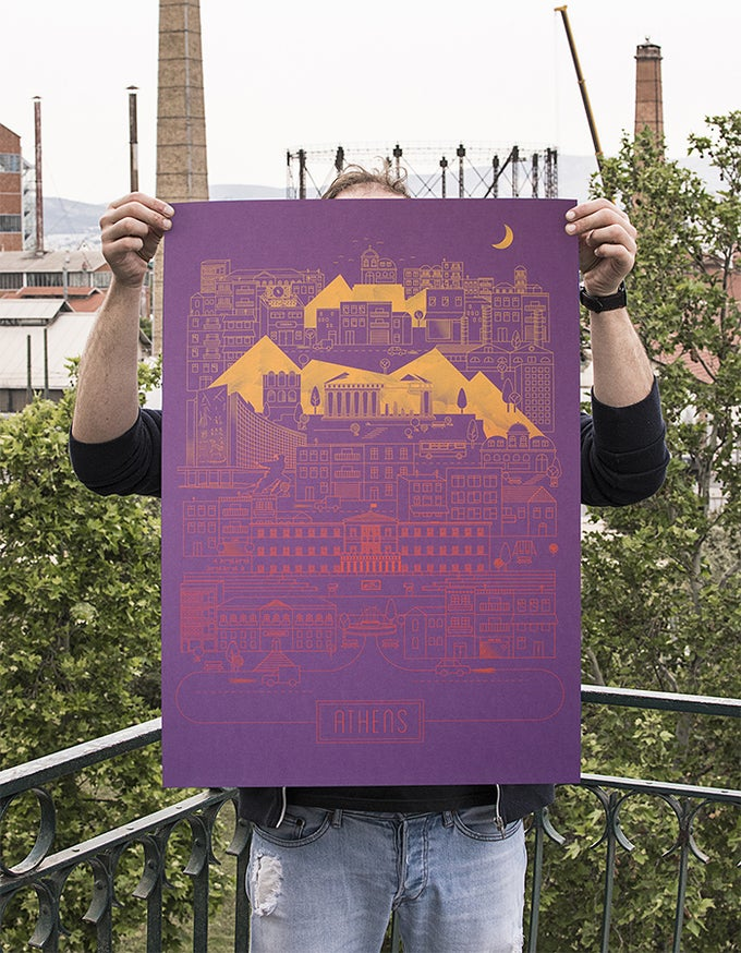 Image of Athens on Violette Metallic