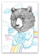 "Image of ""Don't Care Bear"" - A4 print"
