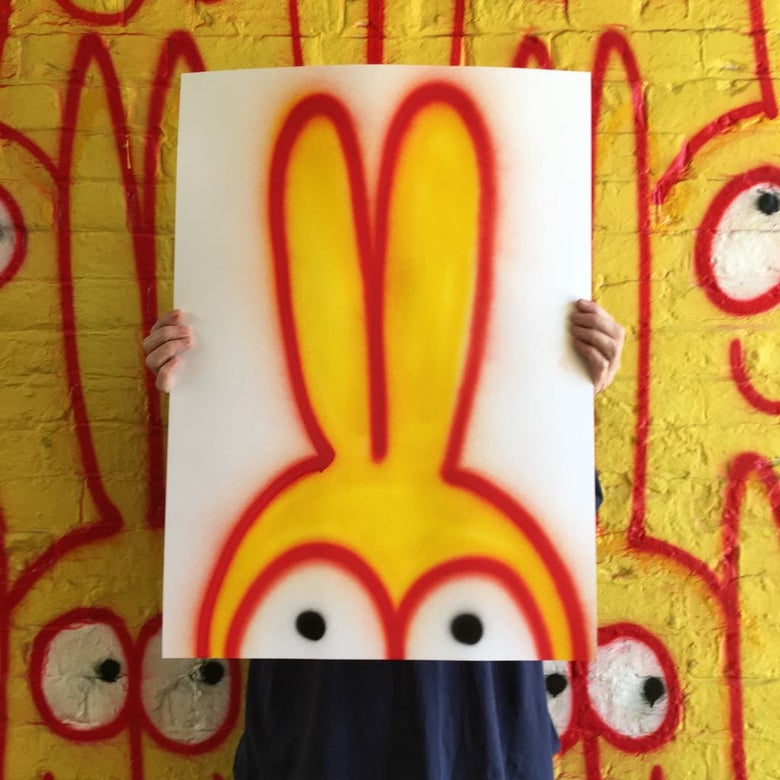 Image of Bunt the rabbit . painted by Petro
