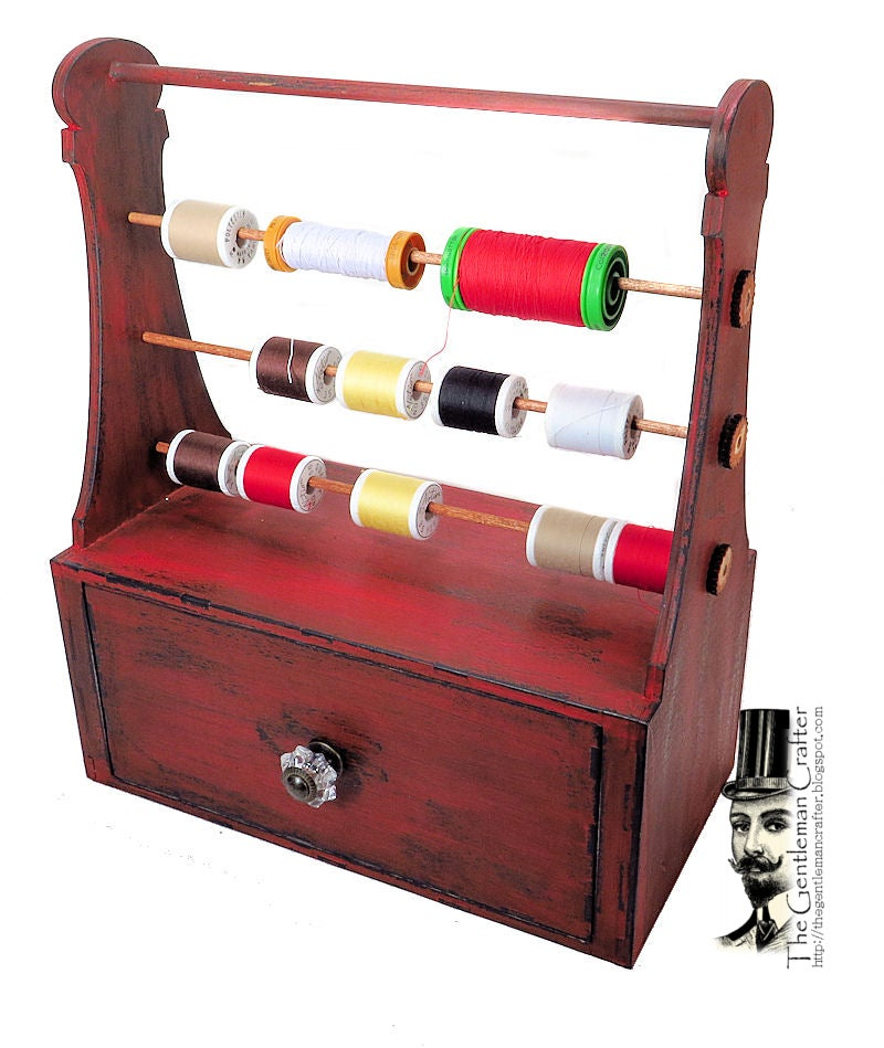 Image of More Added!!  Antique Thread Holder with Drawer Kit