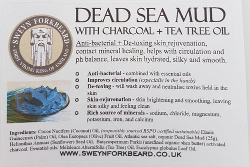 Image of Soap Dead Sea Mud with Charcoal & Tea Tree