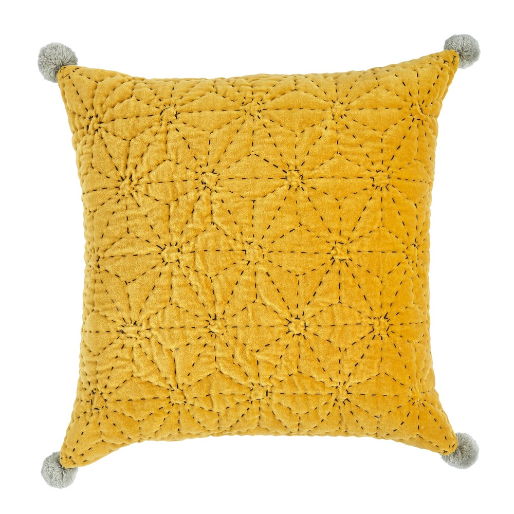Image of T ä h t i cushion, mustard