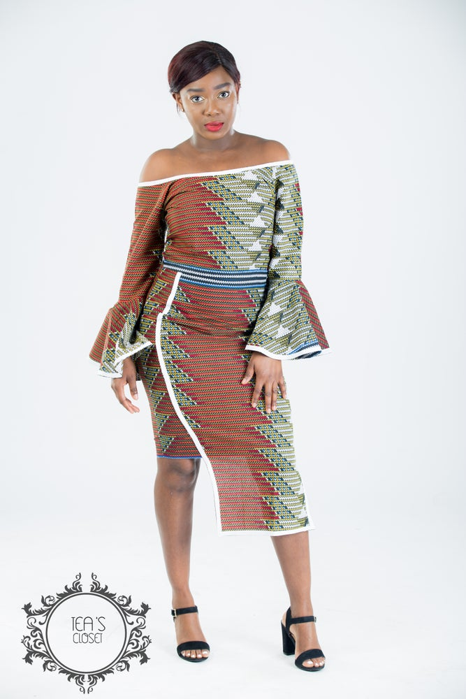 Image of JAZZY MIDI DRESS