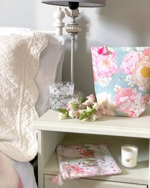 Image of Peony and Bee Fabric Basket