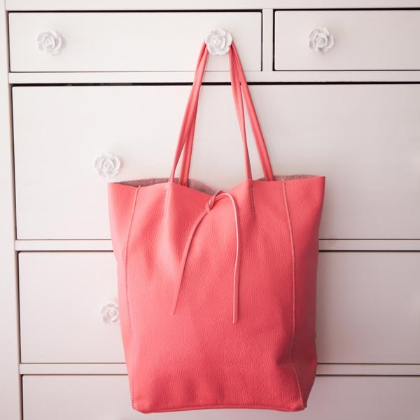 Image of Shopping Bag in pelle | Fragola