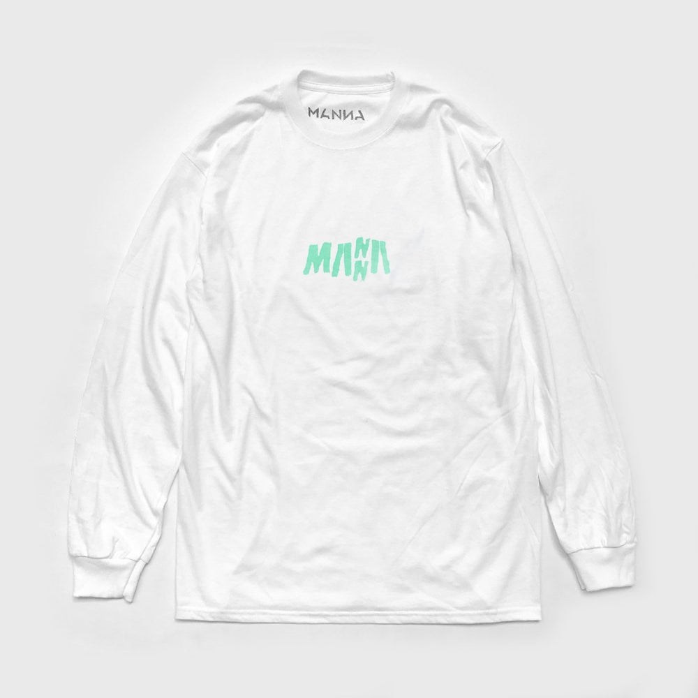 "Image of White // Amanzi Long Sleeve <font color=""green"">RRP: <strike>£25.00</strike></font>"