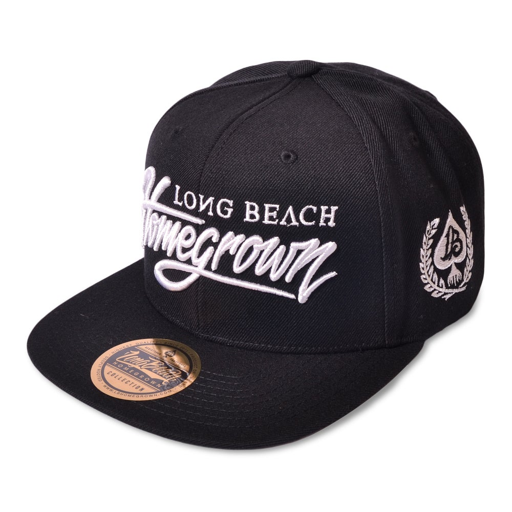 Image of HOMEGROWN SCRIPT BLACK SNAPBACK