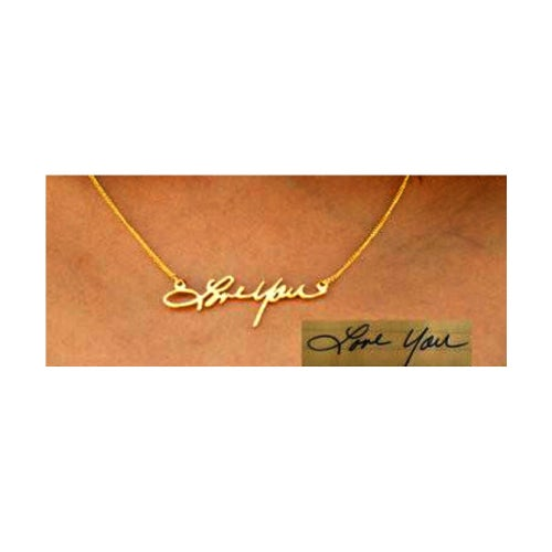 "Image of ""Autograph""  custom Necklace"