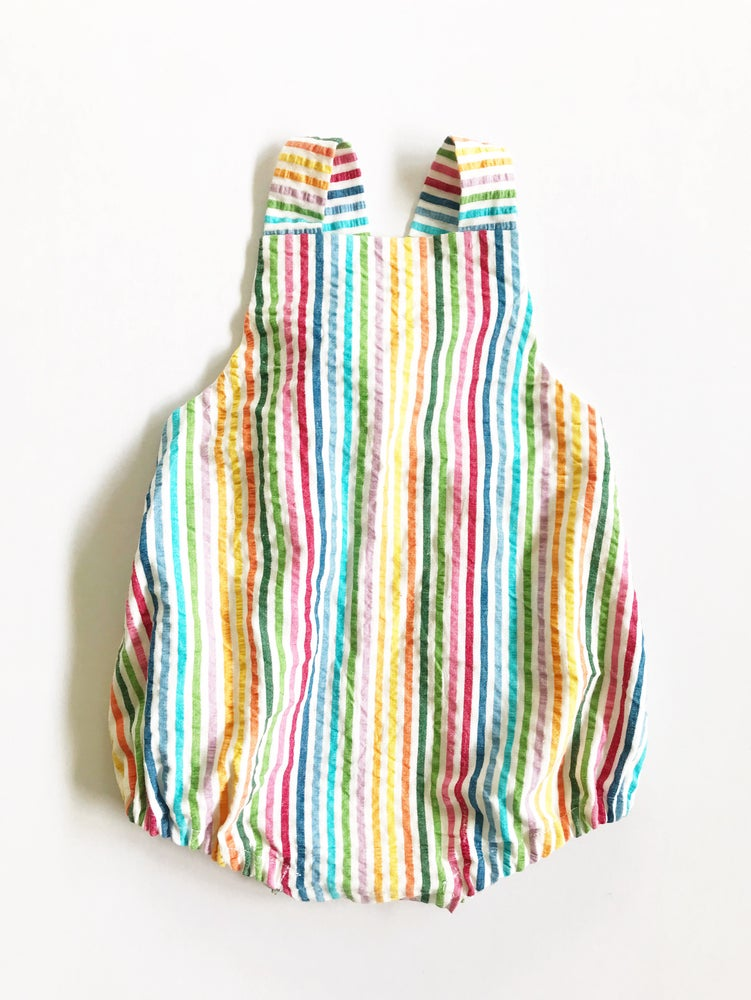 Image of [multicolor stripe] Seersucker Romper