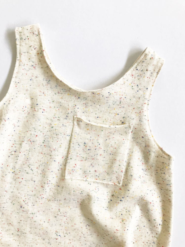 Image of [cream + multicolor speckle] Playsuit