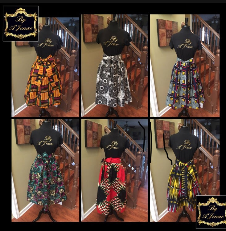 Image of CUSTOM: African Print Mini, Midi or Maxi Skirt  (FSBA Custom) ($60-90)