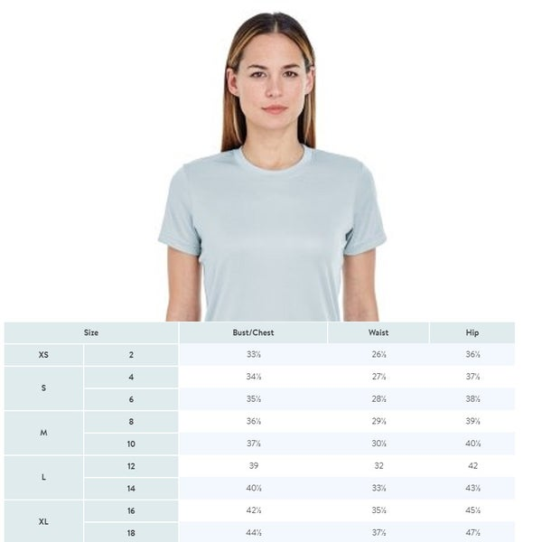Image of LADIES' COOL & DRY BASIC PERFORMANCE T-SHIRT 8620L ULTRACLUB