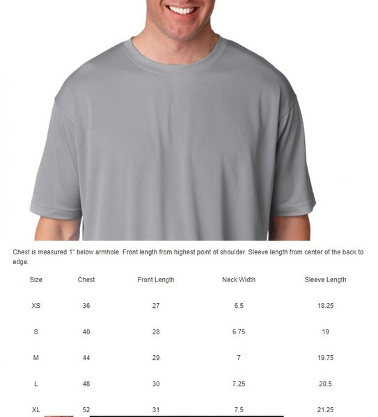 Image of MEN'S COOL & DRY PERFORMANCE SPORT T-SHIRT 8400 ULTRACLUB (S-XL)