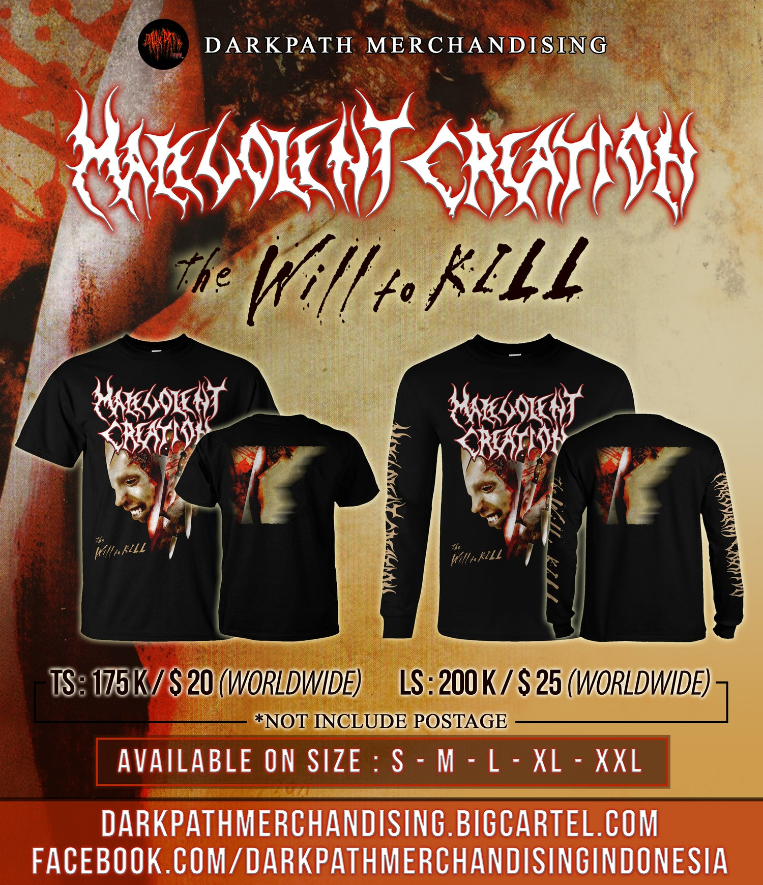 Image of MALEVOLENT CREATION - The Will To Kill SS & LS