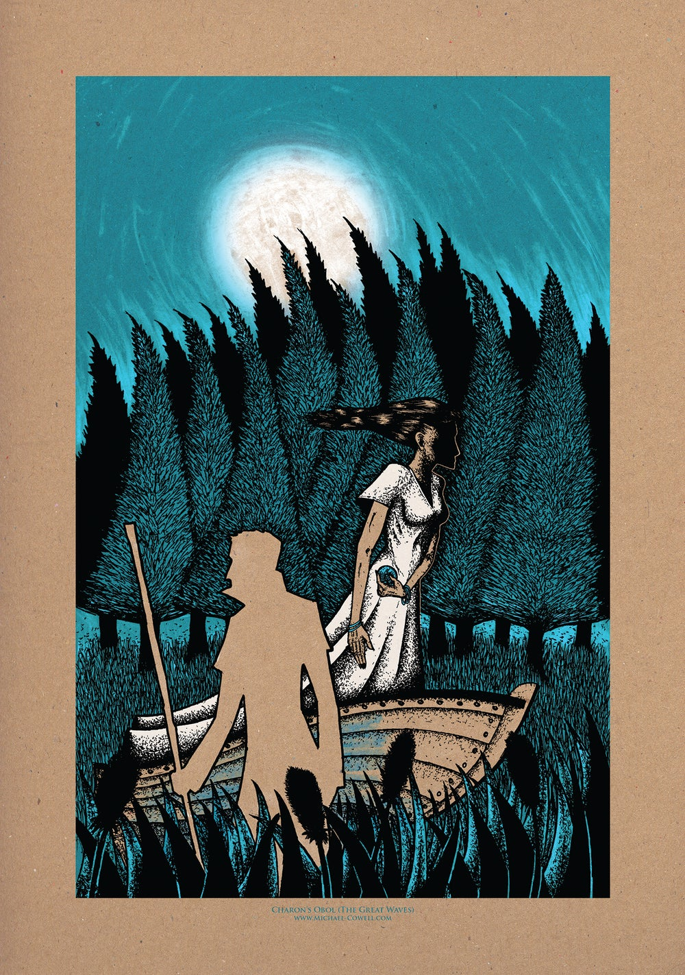 Image of Charon's Obol (The Great Waves) Art Print