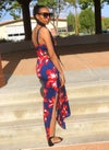 RED & BLUE FLORAL SUNDRESS