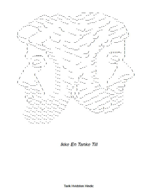 Image of IKKE EN TANKE TIL
