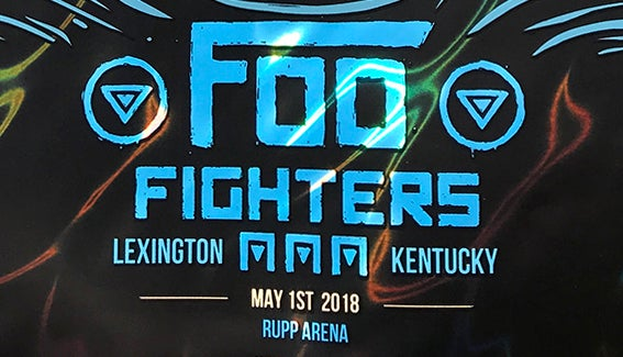 Image of LAVA FOIL - FOO FIGHTERS - LEXINGTON, KY