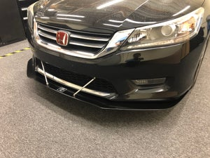 "Image of 9th Gen Honda accord ""V1"" front splitter"