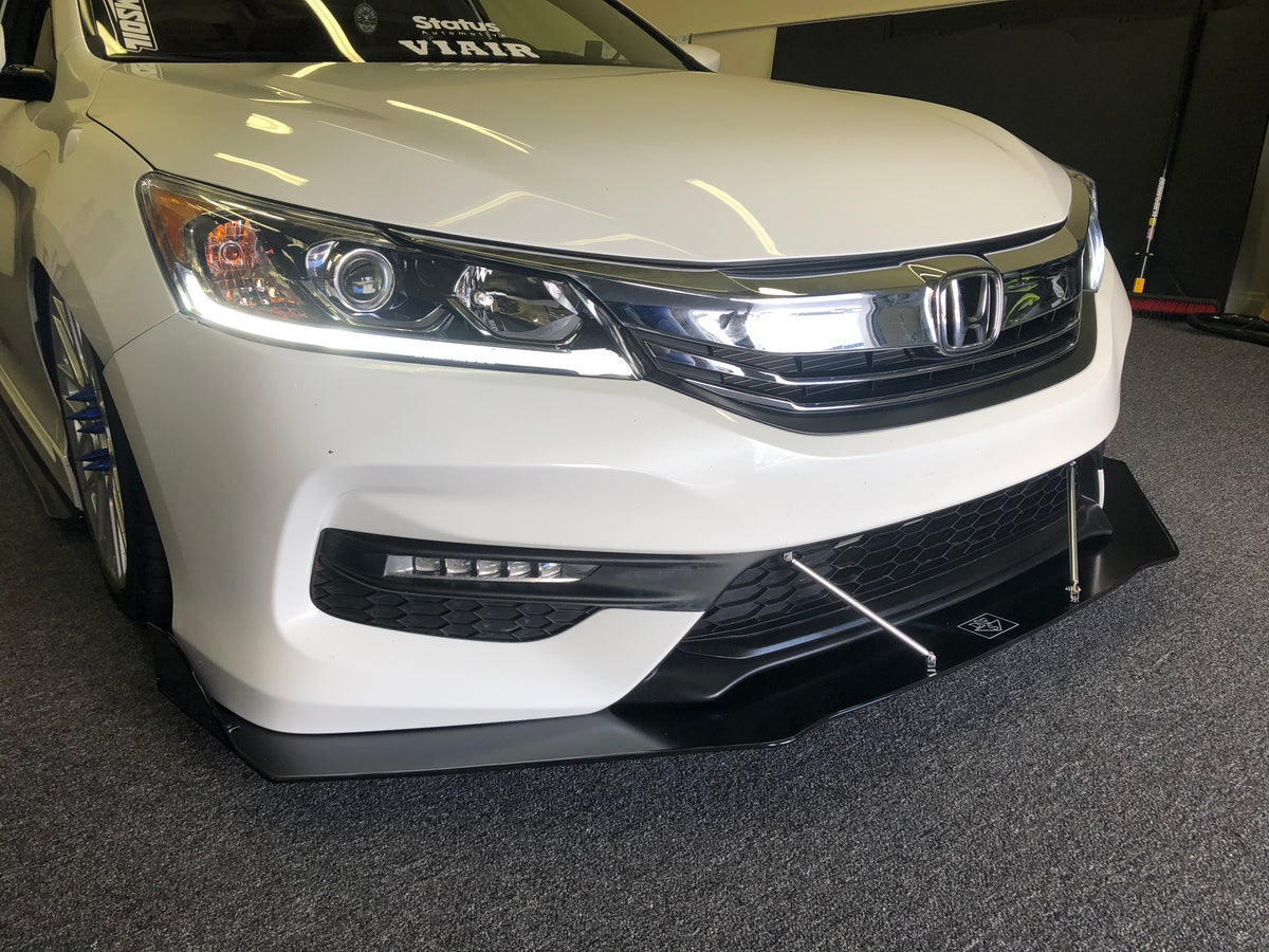 "2017 Honda Accord V6 >> DownForceSolutions — 9th Gen Honda Accord ""v2"" front splitter"