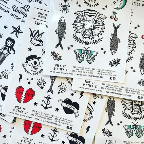 Image of Temporary Tattoos for Little Wild Ones