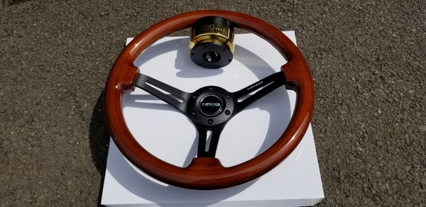 Image of Real Wood 100% Brand New NRG Steering wheel