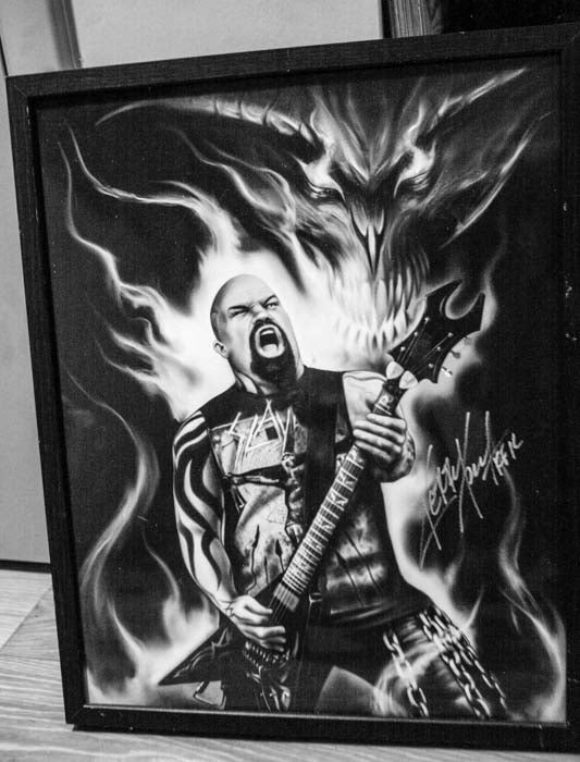 Image of Kerry King 1 of a kind Autographed 16x20 artist proof