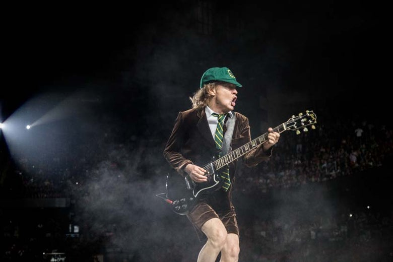 Image of Angus Young Ac/Dc canvas gallery wrap