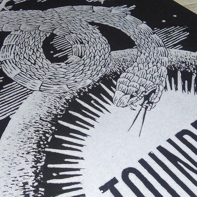 Image of TOUNDRA WOODCUT POSTER (Paris 2018)