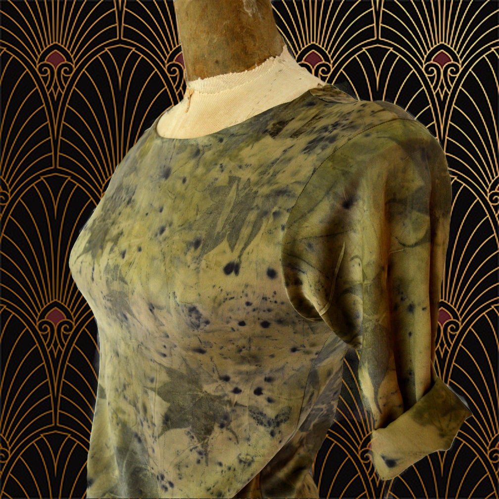 Image of antique gold second skin dress
