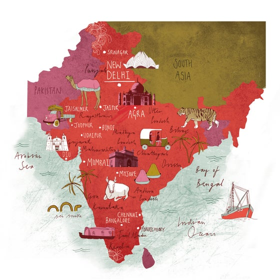 Image of Map of India